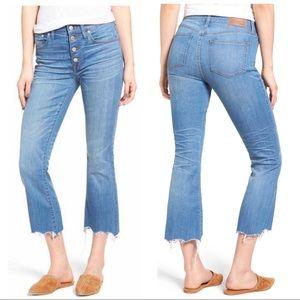 Madewell NWOT Cali Demi Boot Chew Hem Jeans, 27